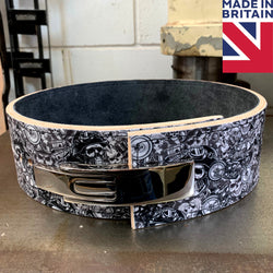 ModiFit Elite 13mm Death Before Dishonour Lever Powerlifting Belt - Hand Made in UK