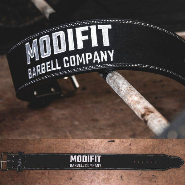 ModiFit Powerlifting Belt 10mm Single Prong Black