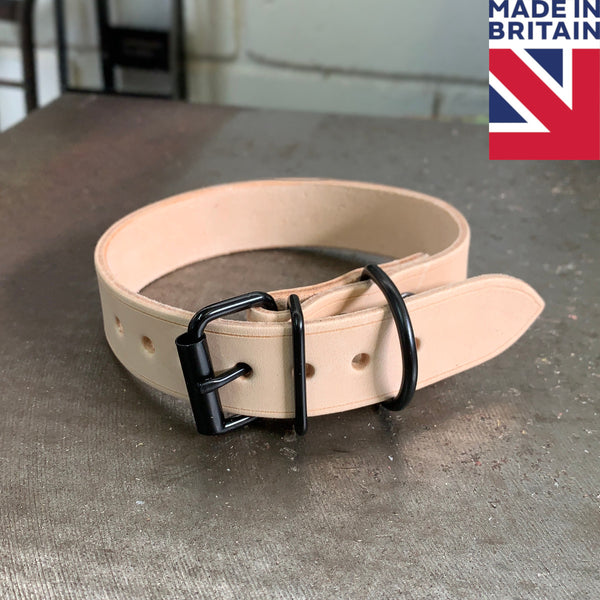 Classic Leather Dog Collar - Hand Made in UK