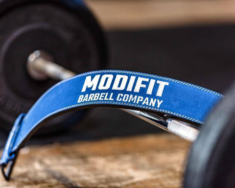 Discontinued: ModiFit Powerlifting Belt 10mm Single Prong Blue (2XL, 5XL, 6XL)