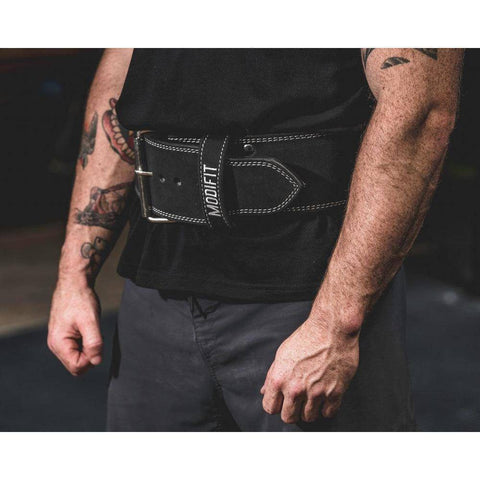 Image of ModiFit Powerlifting Belt 10mm Single Prong Black