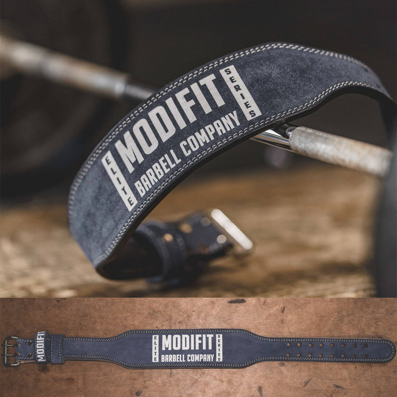 ModiFit Weight Lifting Belt Elite Steel Grey Suede