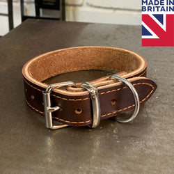 Leather Dog Collar - Hand Made in UK