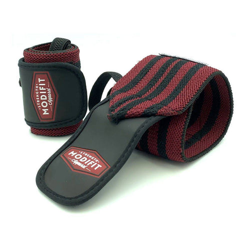 ModiFit Heavy Wrist Straps Burgundy and Black