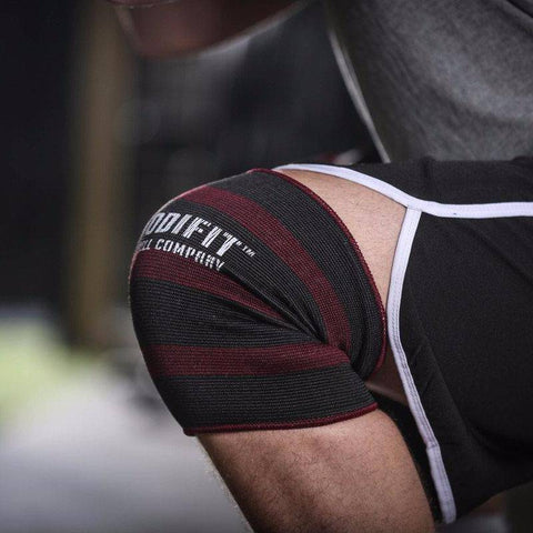 Image of ModiFit Knee Sleeves Double Ply Maroon & Black (Pair)