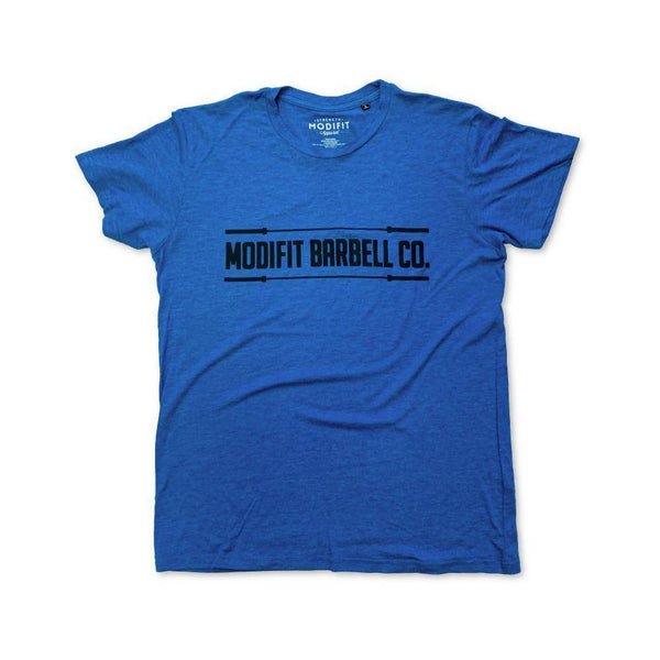 Men's ModiFit Blue Barbell T-Shirt