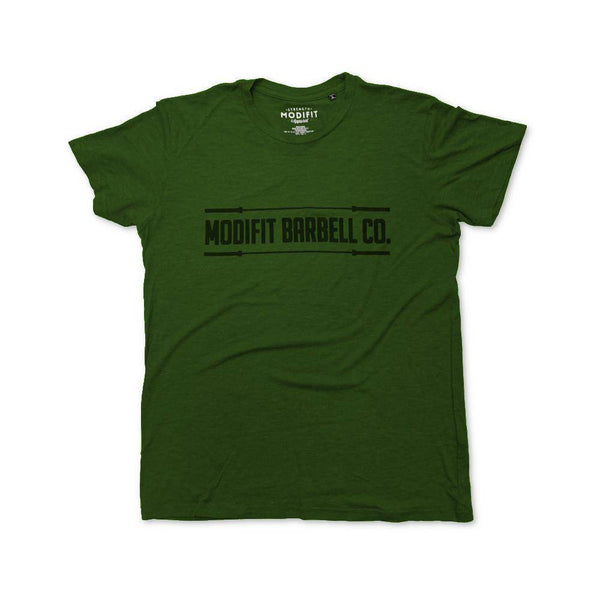 Men's ModiFit Olive Barbell T-Shirt