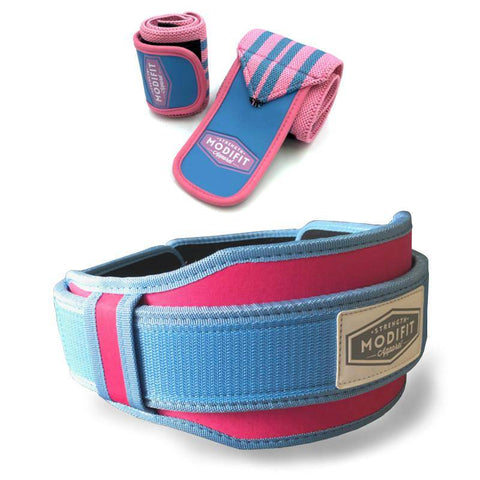 ModiFit Velcro Weightlifting Belt Pink