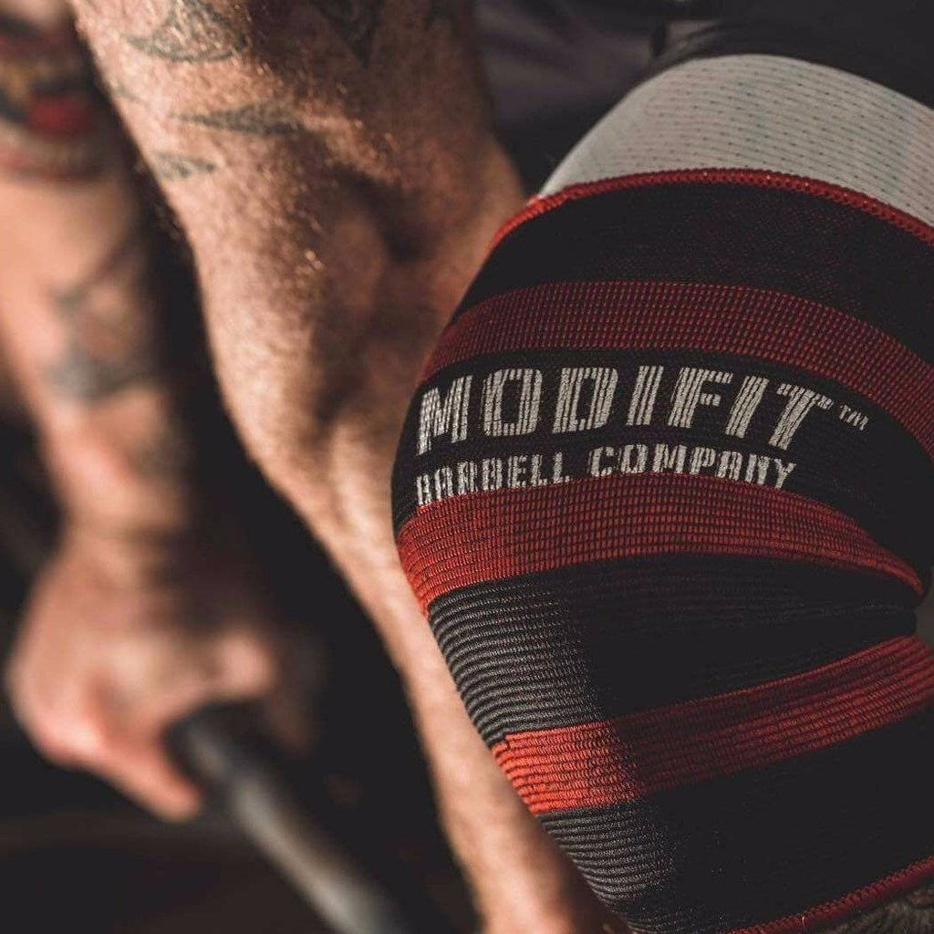 ModiFit Knee Sleeves Single Ply Red & Black (Pair)