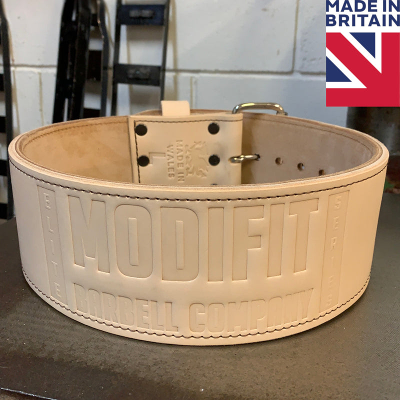 "ModiFit Retro 4"" Single Prong 10mm Powerlifting Belt Hand Made in UK"