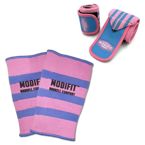 Image of ModiFit Knee Sleeves Single Ply Pink (Pair)