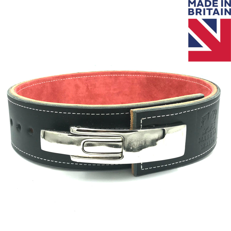 "ModiFit Elite Stealth 3"" Lever Powerlifting Belt - Hand Made in UK"