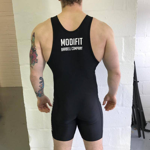 ModiFit Black Men's Weightlifting Singlet