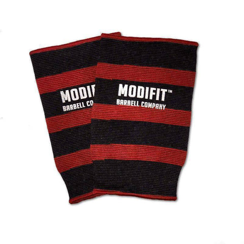 Discontinued: ModiFit Knee Sleeves Single Ply Red & Black (Pair) (Small & Medium)