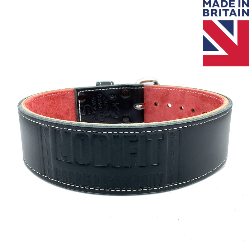 "ModiFit Elite Stealth 3"" Single Prong Powerlifting Belt - Hand Made in UK"