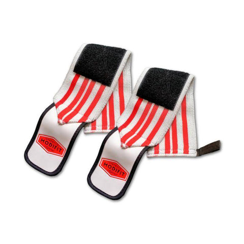 Image of ModiFit Wrist Straps White and Red