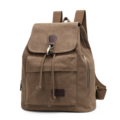 BETA Vintage Canvas Backpack - Brown