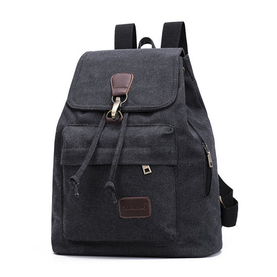 BETA Vintage Canvas Backpack - Black