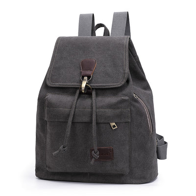 BETA Vintage Canvas Backpack - Dark Grey