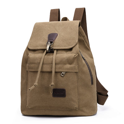 BETA Vintage Canvas Backpack - Khaki