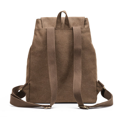 BETA Vintage Canvas Backpack - Khaki Back