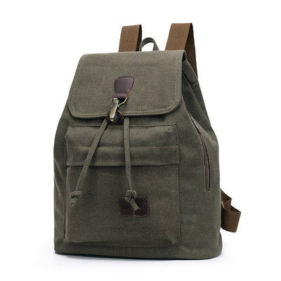 BETA Vintage Canvas Backpack - Army Green