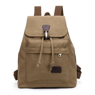 BETA Vintage Canvas Backpack - Khaki Front
