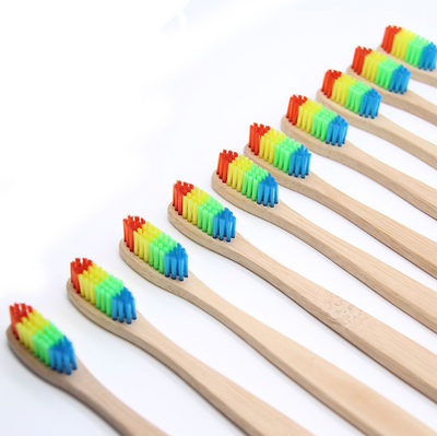Rainbow Bamboo Toothbrush