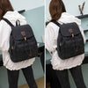 BETA Vintage Canvas Backpack - Black on Back