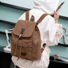 BETA Vintage Canvas Backpack - Brown On Back