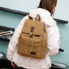 BETA Vintage Canvas Backpack - Khaki On Back