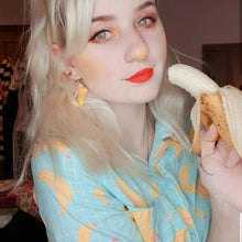Load image into Gallery viewer, Peeling Banana Earrings