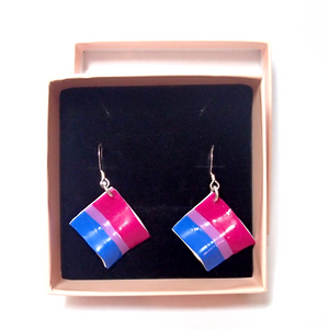 Bisexual Pride Flag Earrings