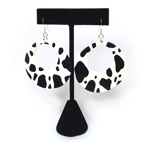 Retro Cow Print Earrings