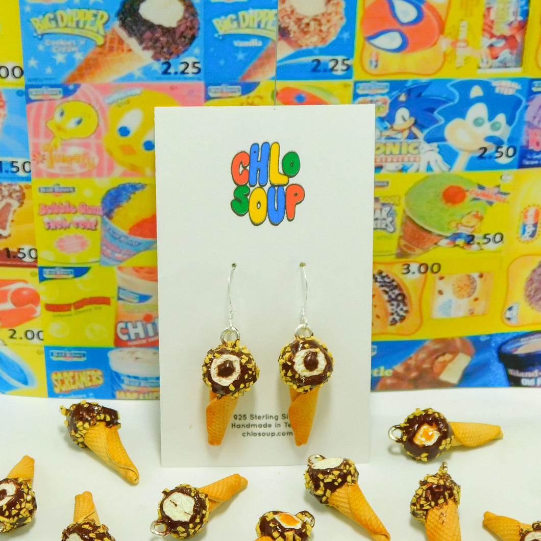 Chocolate Filled Drumstick Earrings
