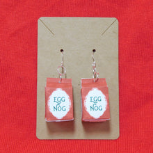 Load image into Gallery viewer, Egg Nog Carton Earrings