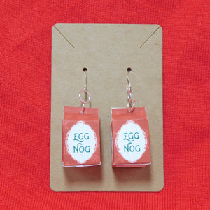 Egg Nog Carton Earrings