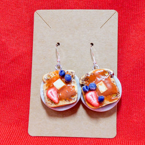 French Toast Earrings