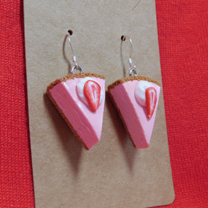 Strawberry Cheesecake Earrings