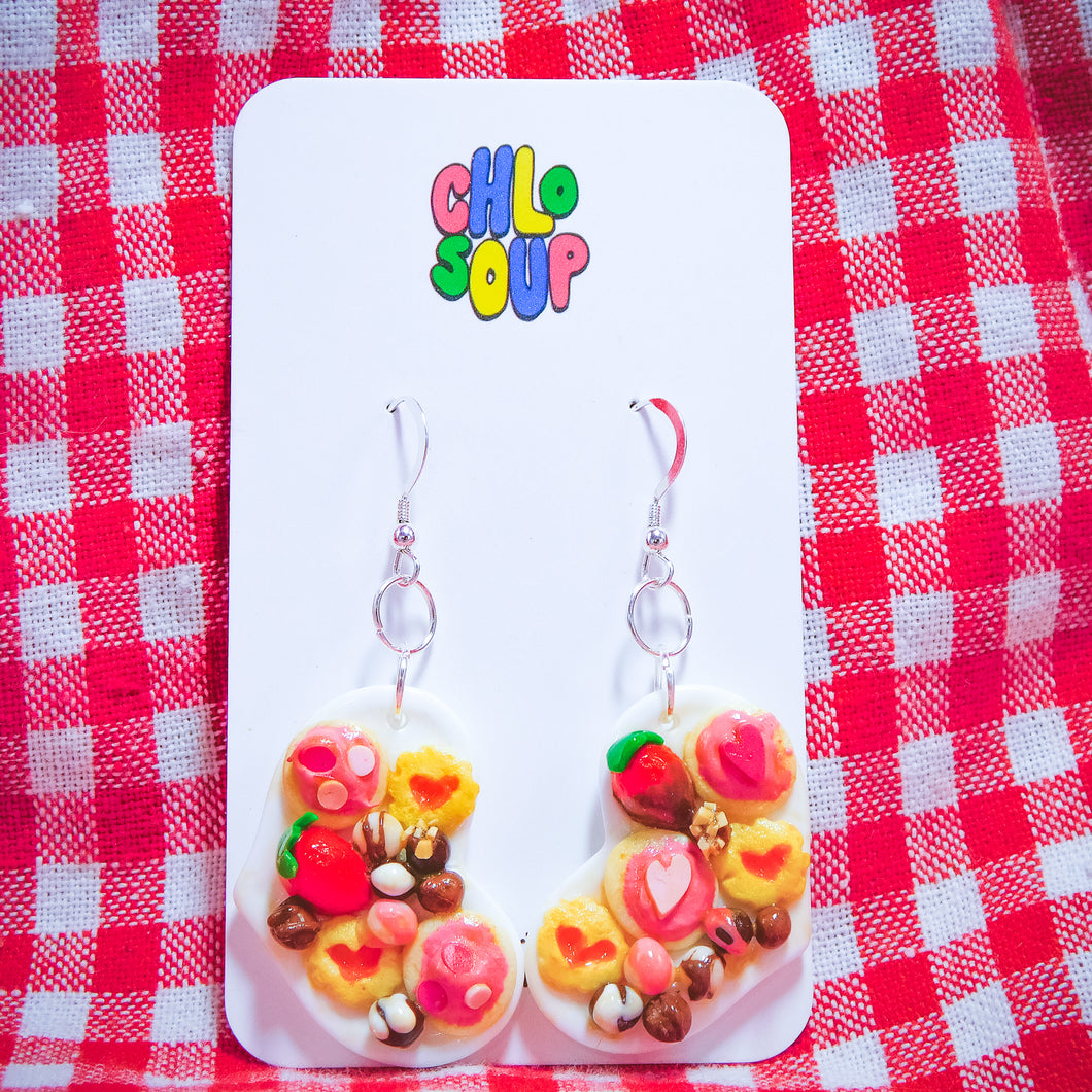 Vertical C(heart)cuterie Board Earrings