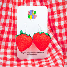 Load image into Gallery viewer, Squishy Strawberry Earrings