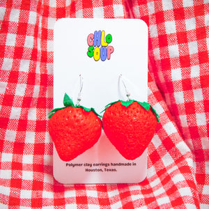 Squishy Strawberry Earrings