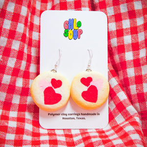 Pillsbury Inspired Valentine's Day Sugar Cookie Earrings