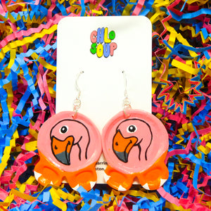 Flamingo Zoo Pal Inspired Earrings