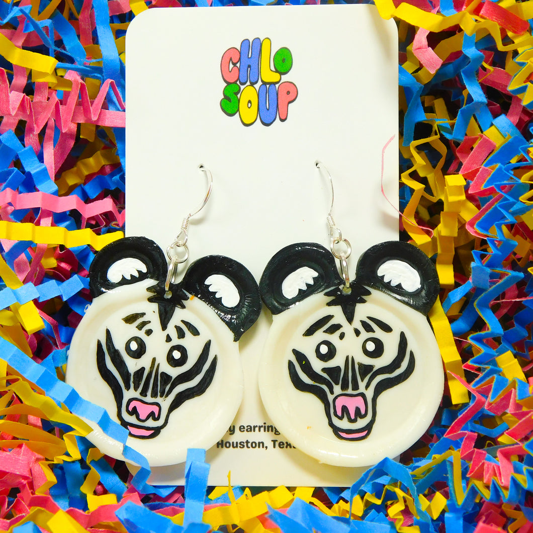 Zebra Zoo Pal Inspired Earrings