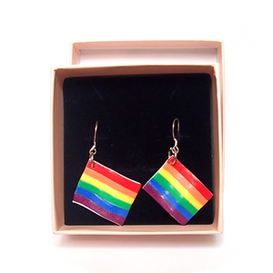 Gay Pride Flag Earrings