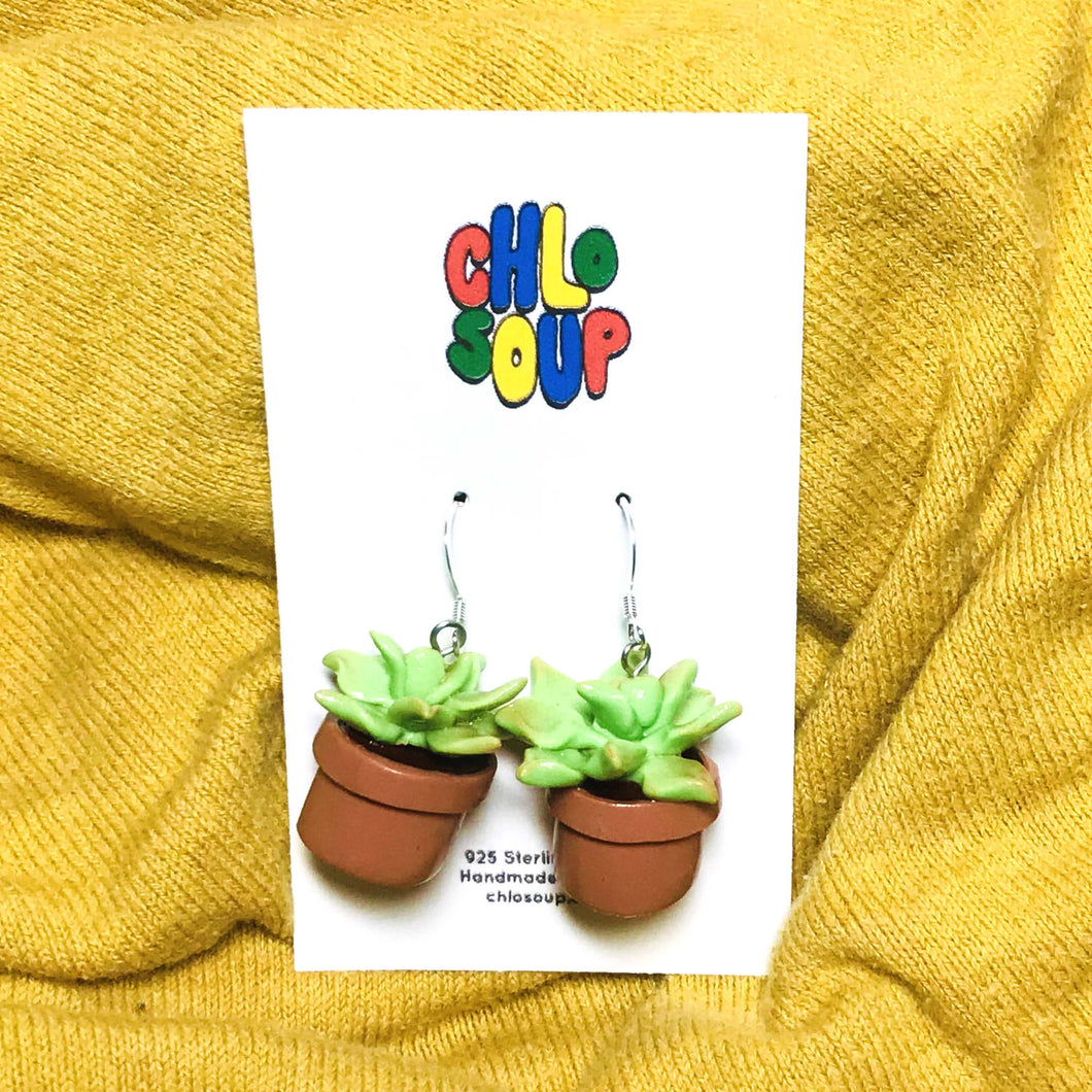 Potted Succulent Earrings