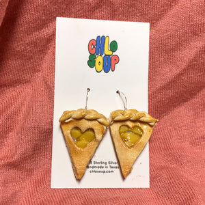 Heart Cutout Apple Pie Earrings