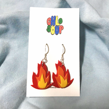 Load image into Gallery viewer, Layered Flame Earrings