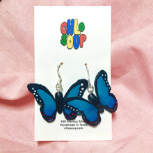 Load image into Gallery viewer, Blue Butterfly Earrings 🦋